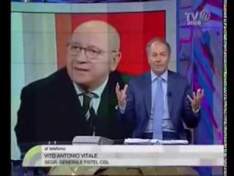 """Intervento Telefonico del Segretario Generale Fistel Vito Vitale """" Vendita telecom """""""