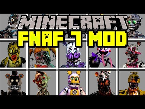 Minecraft FNAF 7 MOD! | RUN FROM NEW FIVE NIGHTS AT FREDDY'S MONSTERS! | Modded Mini-Game