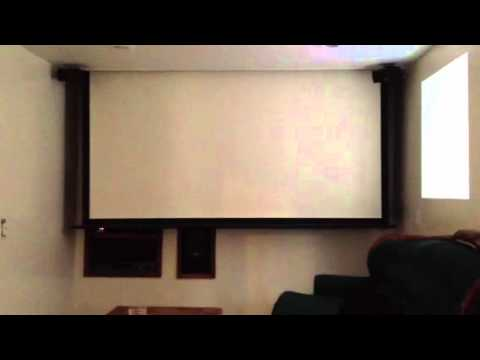 Hidden projector screen youtube for Hiding a projector in living room