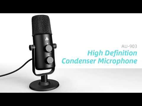 MAONO AU-903 360° Adjustable Cardioid Omnidirectional USB Microphone