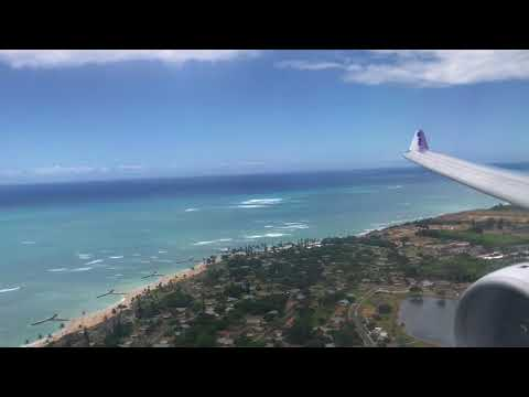 Hawaiian Airlines A330-200 landing Honolulu