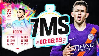 92 SUMMER HEAT PHIL FODEN!! 7 MINUTE SQUAD BUILDER - FIFA 20 ULTIMATE TEAM