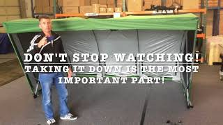 Sports Shelter Set-up & Take-down