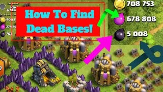 How To Always Find Dead Bases Easy In Clash of Clans!