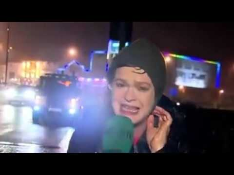 Weather News Reporter Epic Fail