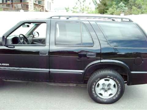 2002 black chevy blazer for sale denver colorado 4x4 1 owner non smoker low miles 80033 youtube. Black Bedroom Furniture Sets. Home Design Ideas