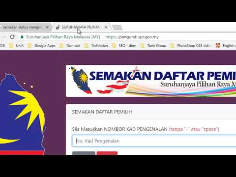 semak status sebagai pengundi 2018
