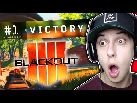 *FIRST EVER* COD BO4 BATTLE ROYALE WIN!!! (Blackout Gameplay)