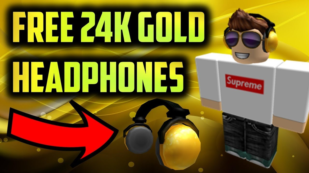 ROBLOX Get 24K Golden Headphones For Free! (PROMO CODE ...