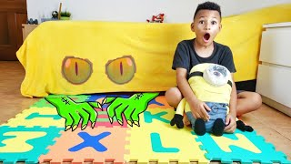 Monster under the Bed aand other Funny Videos for Kids by Kris and Kira