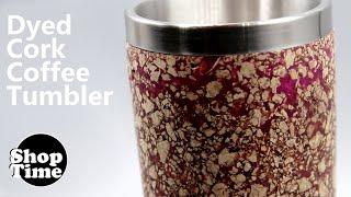 Dyed Cork Coffee Tumbler