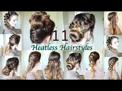 11 Heatless Hairstyles  | DIY Hairstyles | Braidsandstyles12