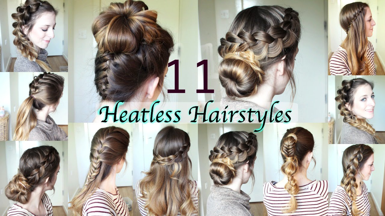 11 Heatless Hairstyles DIY Hairstyles