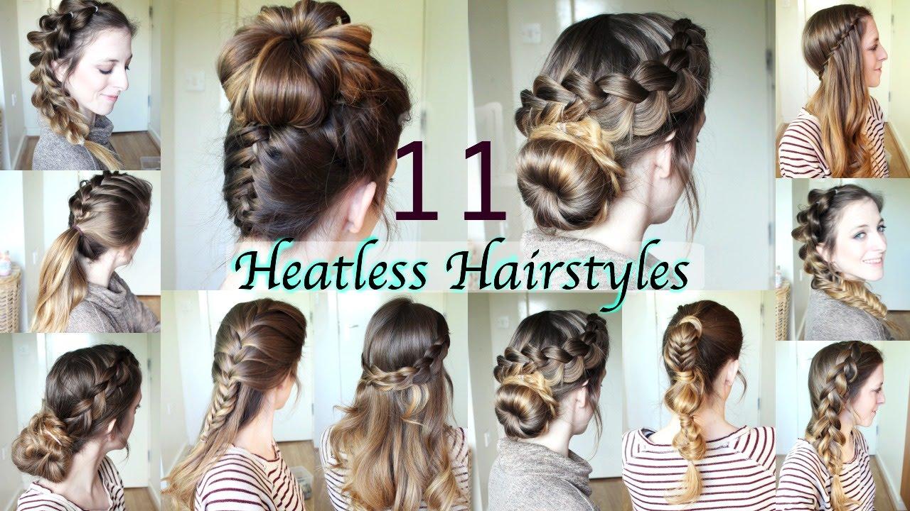 11 Heatless Hairstyles  DIY Hairstyles  Braidsandstyles12  YouTube