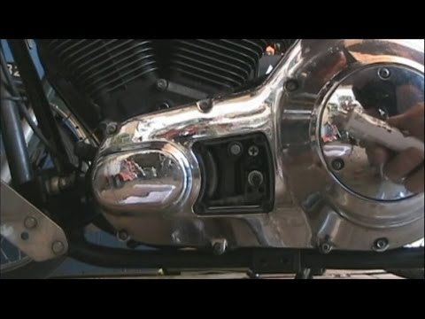 How To Adjust The Primary Chain On A Harley Davidson Evolution Big Twin  Motorcycle Engine