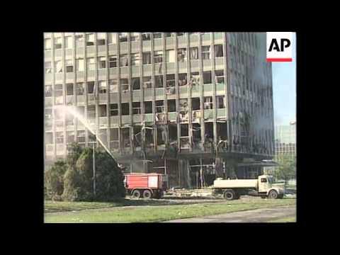 YUGOSLAVIA: KOSOVO CRISIS: NATO AIRSTRIKES DAMAGE (6)