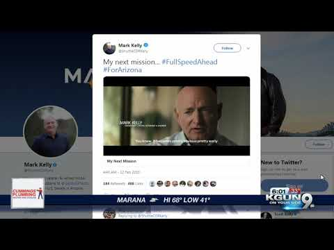 Mark Kelly to run for Senate in 2020