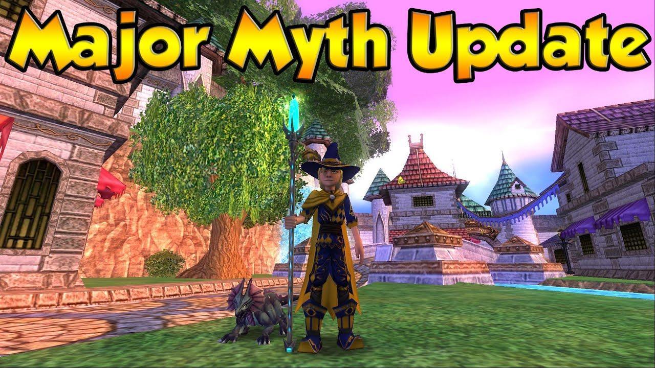wizard101 major myth gear update youtube