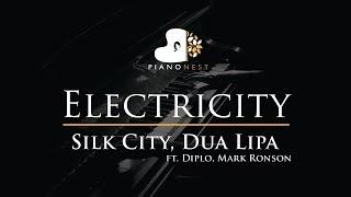 Silk City, Dua Lipa - Electricity ft. Diplo, Mark Ronson - Piano Karaoke / Cover with Lyrics Video