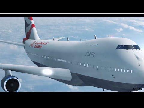 Tunisair Element 3D JetFlight Test | Tunisian Plane