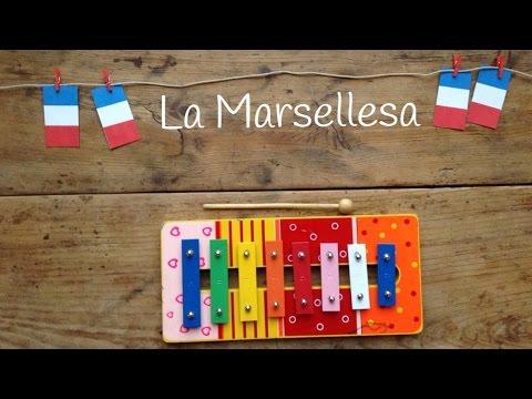 Canciones fáciles con xilófono para niños: La Marsellesa, el himno francés