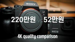 소니 A7M3 VS 고프로 히어로 8 - 4K 화질비교