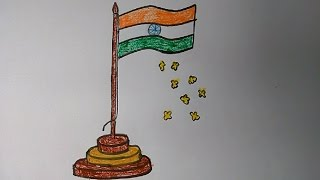 Gambar cover How to draw Indian Flag step by step very easily for kids