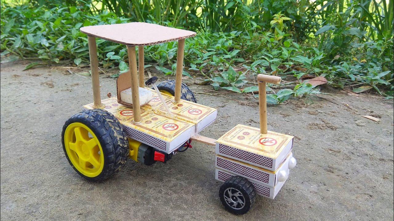 How To Make Matchbox Mahindra Tractor - Matchbox Mahindra Tractor Gari Banano Shikhun