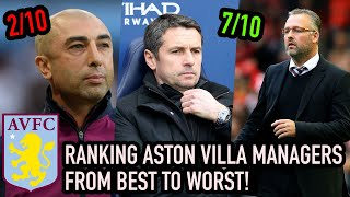 RANKING ASTON VILLA MANAGERS from BEST to WORST!
