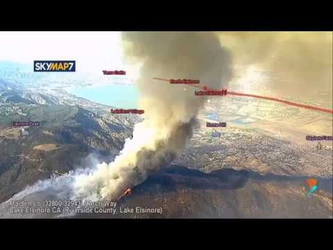 WILDOMAR FIRE California LIVE near Murrieta / Temecula / Nor