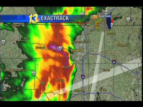 Tornado hits TV station! Rockford IL, May 22, 2011
