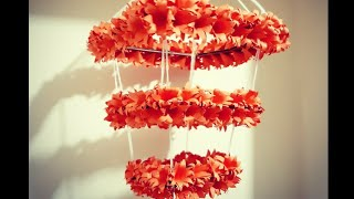 easy Hanging😍| paper flower roof hanging 🌺