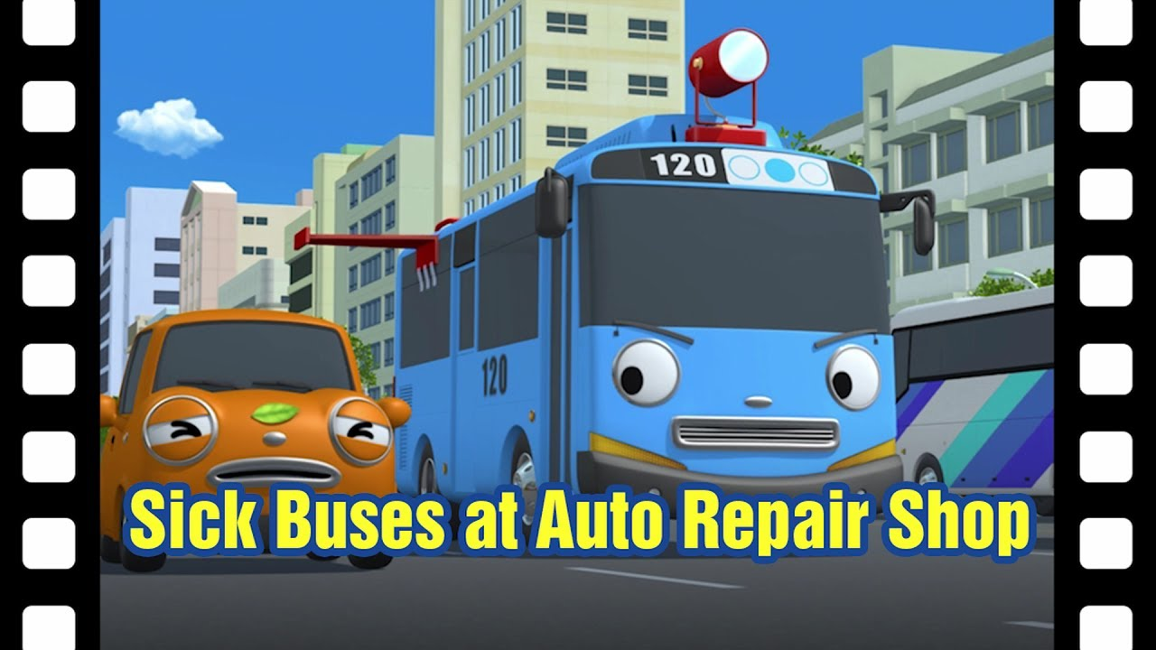 sick buses at auto repair shop l tayos little theater 12