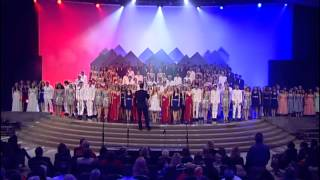 "The Los Alamitos High School choirs sing ""God Bless America"""