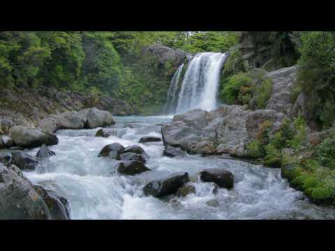 Waterfall  Nature's White Noise Matariki Falls, or Tawhai falls Tongariro National Park, New Zealand