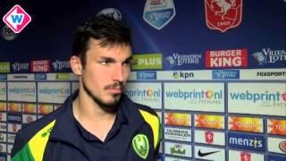 Reactie ADO-speler Mike Havenaar na FC Twente - ADO Den Haag (1-4)