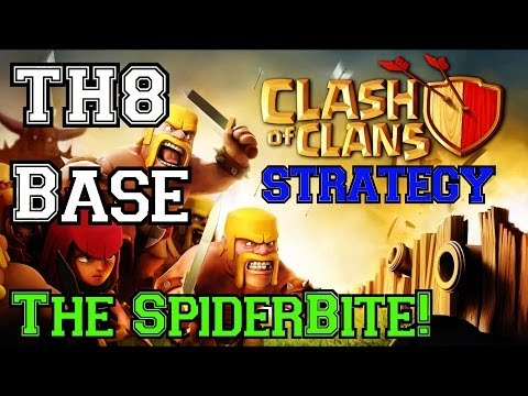 Clash Of Clans: The MOST EPIC TH8 Base - The SpiderBite!