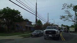 Driving by Dongan Hills in Staten Island,New York