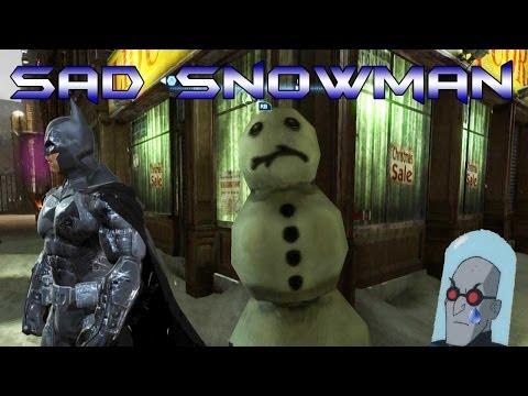 Batman Arkham Origins: Sad Snowman Easter Egg!!!