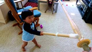 Baby Kendo Lessons @20months.