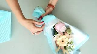 mini bouquet wrap /  упаковка букета / как обернуть букет цветов