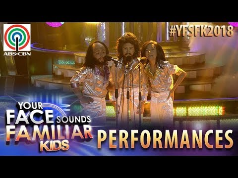 Your Face Sounds Familiar Kids 2018: TNT Boys as Bee Gees | Too Much Heaven