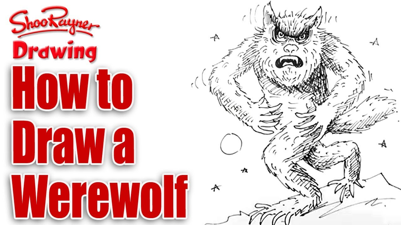 Watch Video Tutorial How To Draw Werewolf | Apps Directories