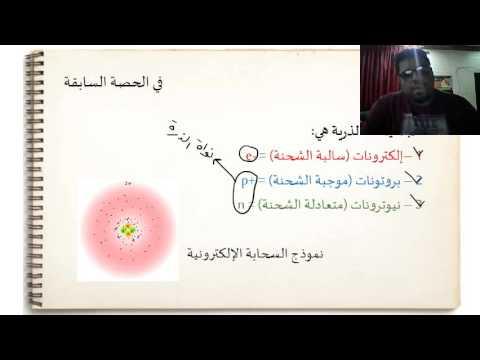 العدد الذري والعدد الكتلي والنظائر atomic and mass number lesson for 9th grade