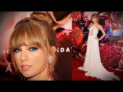 Taylor Swift Dress at Fragrance Foundation Award | Fashion Flash