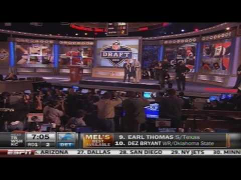 Sam Bradford being picked 1st overall in the 2010 NFL Draft