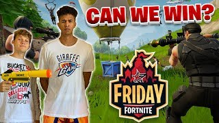 LSK & Jesser ARE IN FRIDAY FORTNITE! CAN WE WIN?