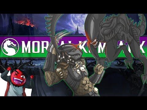 "Mortal Kombat X | ""Alien vs Predator!"" (CaRtOoNz vs H2O Delirious) (MKXL DLC)"