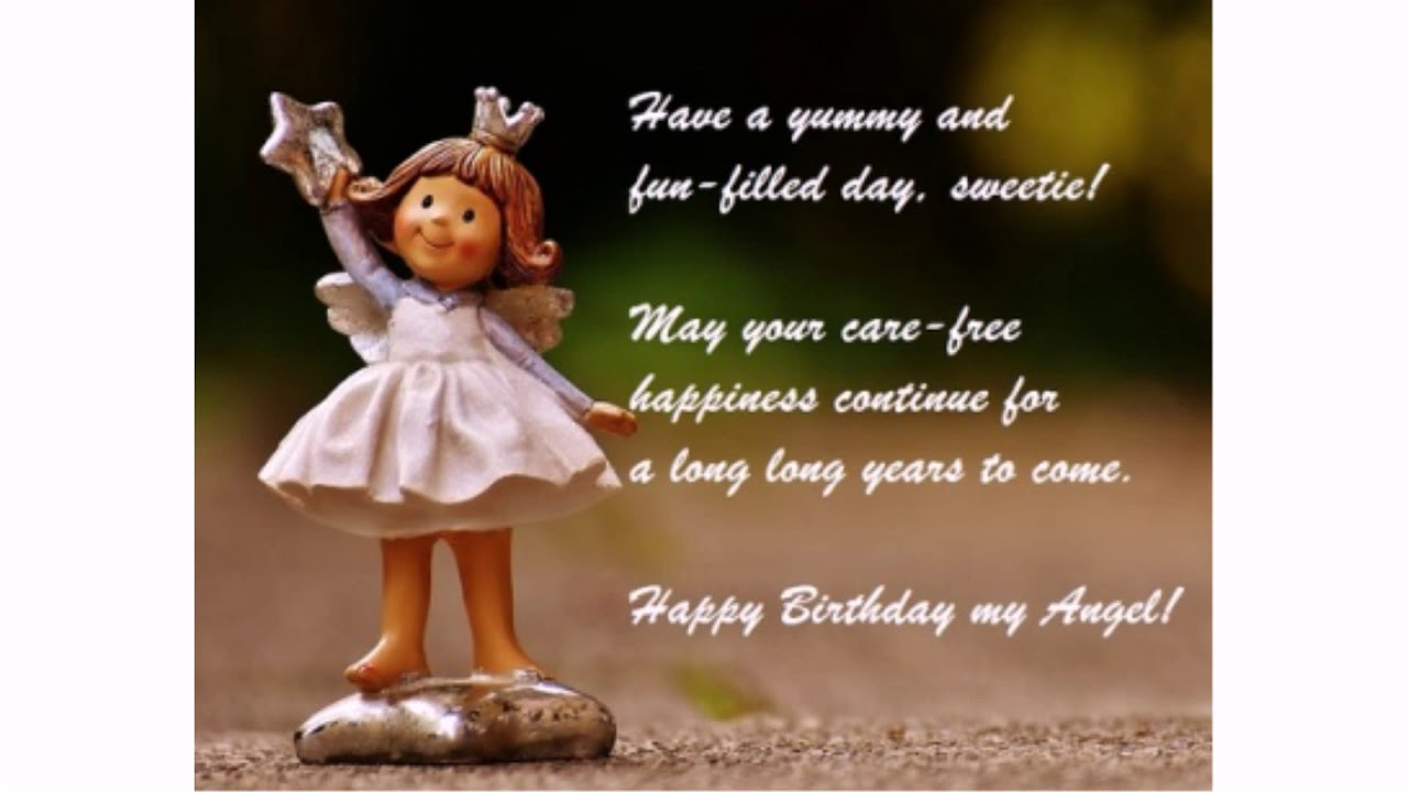 40 Happy Birthday Angel Wishes | WishesGreeting