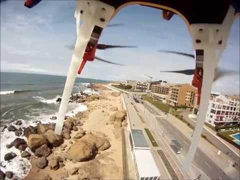 Vista aérea da praia em Vila Nova de Gaia
